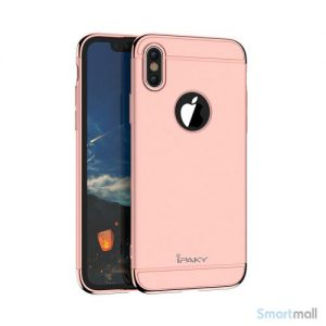 Luksuriøst IPAKY 3-i-1 cover til iPhone X / 10 - Pink