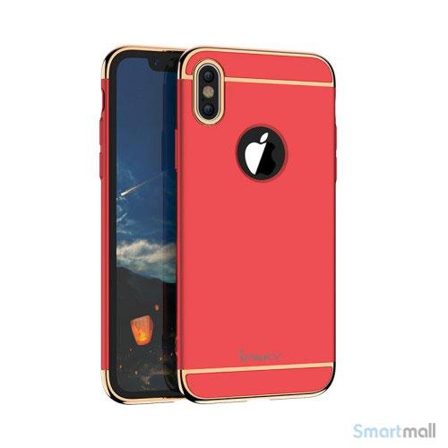 Luksuriøst IPAKY 3-i-1 cover til iPhone X / 10 - Rød