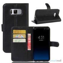 Lychee cover og pung i læder til Samsung Galaxy S8 – sort