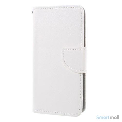 Praktisk iPhone X/10 læderpung m/magnetluk til iPhone X/10 - Hvid
