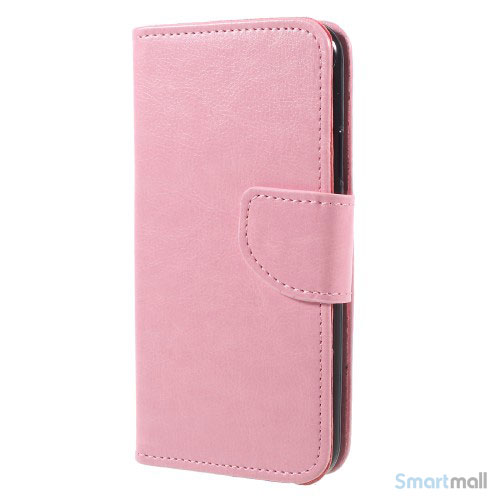 Praktisk iPhone X/10 læderpung m/magnetluk til iPhone X/10 - Pink
