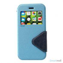ROAR KOREA Flip-cover m/vindue & kortholder til iPhone X/10 - Baby blå