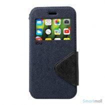 ROAR KOREA Flip-cover m/vindue & kortholder til iPhone X/10 - Mørkeblå