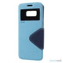 Roar Korea cover med m:kortholder, vindue og stoette til Galaxy S8 – Blaa - 4