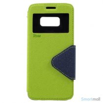 Roar Korea cover med m/kortholder, vindue og stand støtte til Galaxy S8 – Grøn