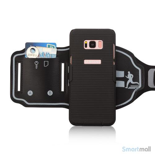 Sportsarmbånd til Samsung Galaxy S8 med nøgleholder