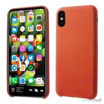 Smart varme sensitivt & farveskiftende PU-lædercover til iPhone X/10 - Rød