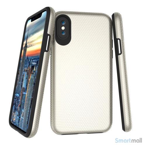 Dobbeltbeskyttende TPU-cover med shock absorbering til iPhone X/10 - Guldfarve