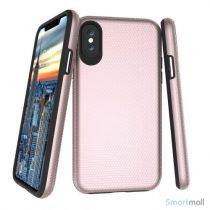 Dobbeltbeskyttende TPU-cover med shock absorbering til iPhone X/10 - Rose guld