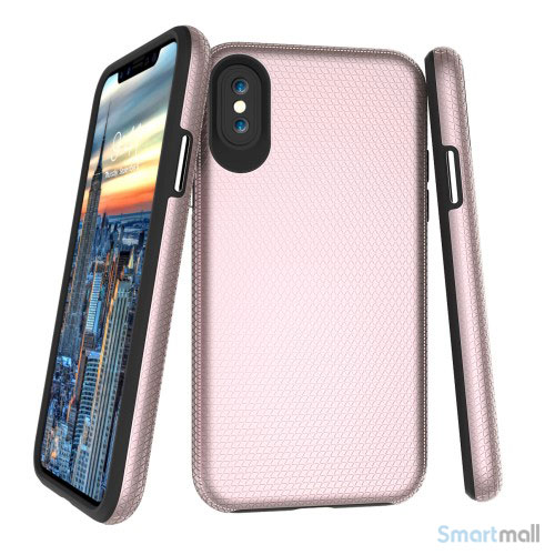 Dobbeltbeskyttende TPU-cover med shock absorbering til iPhone X/10 - Rose guld