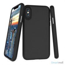 TPU / silikone cover med shock absorbering til iPhone X / 10 - Sort