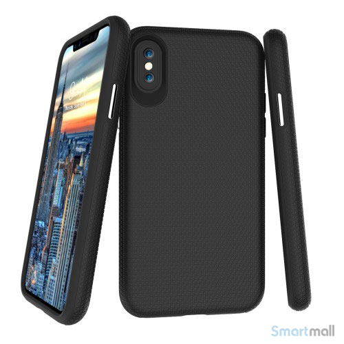 TPU / silikone cover med shock absorbering til iPhone X / 10 - Sort